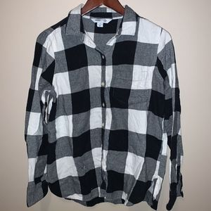 Old Navy The Classic Shirt inBlack & White Flannel